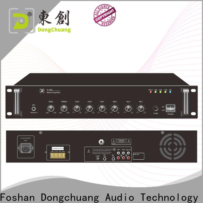 Dongchuang powered pa mixer amplifier with good price for club