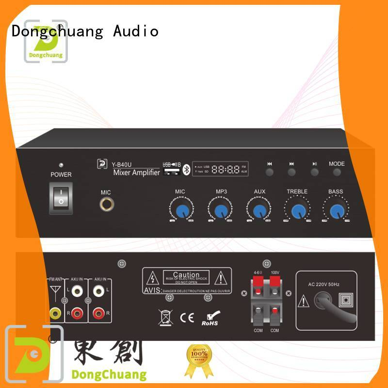 high quality power mixer amplifier company for commercial use
