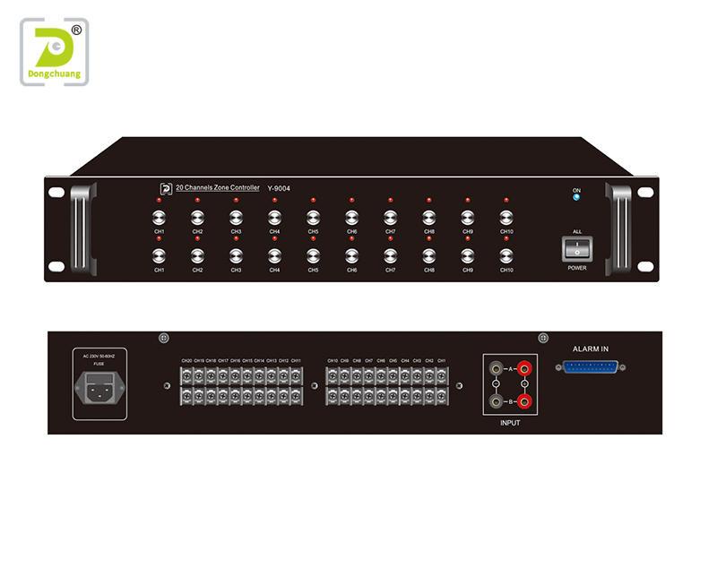 20 channels zone controller best public address system Y-9004