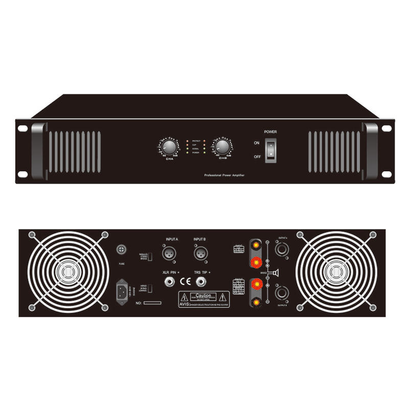 Professional amplifier with Two channel Y-SA300