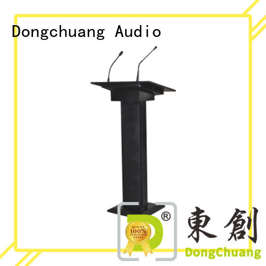 Dongchuang best price lectern with microphone best supplier for business