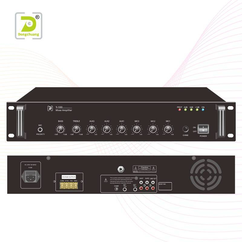 Powered pa mixer amplifier   Y-100